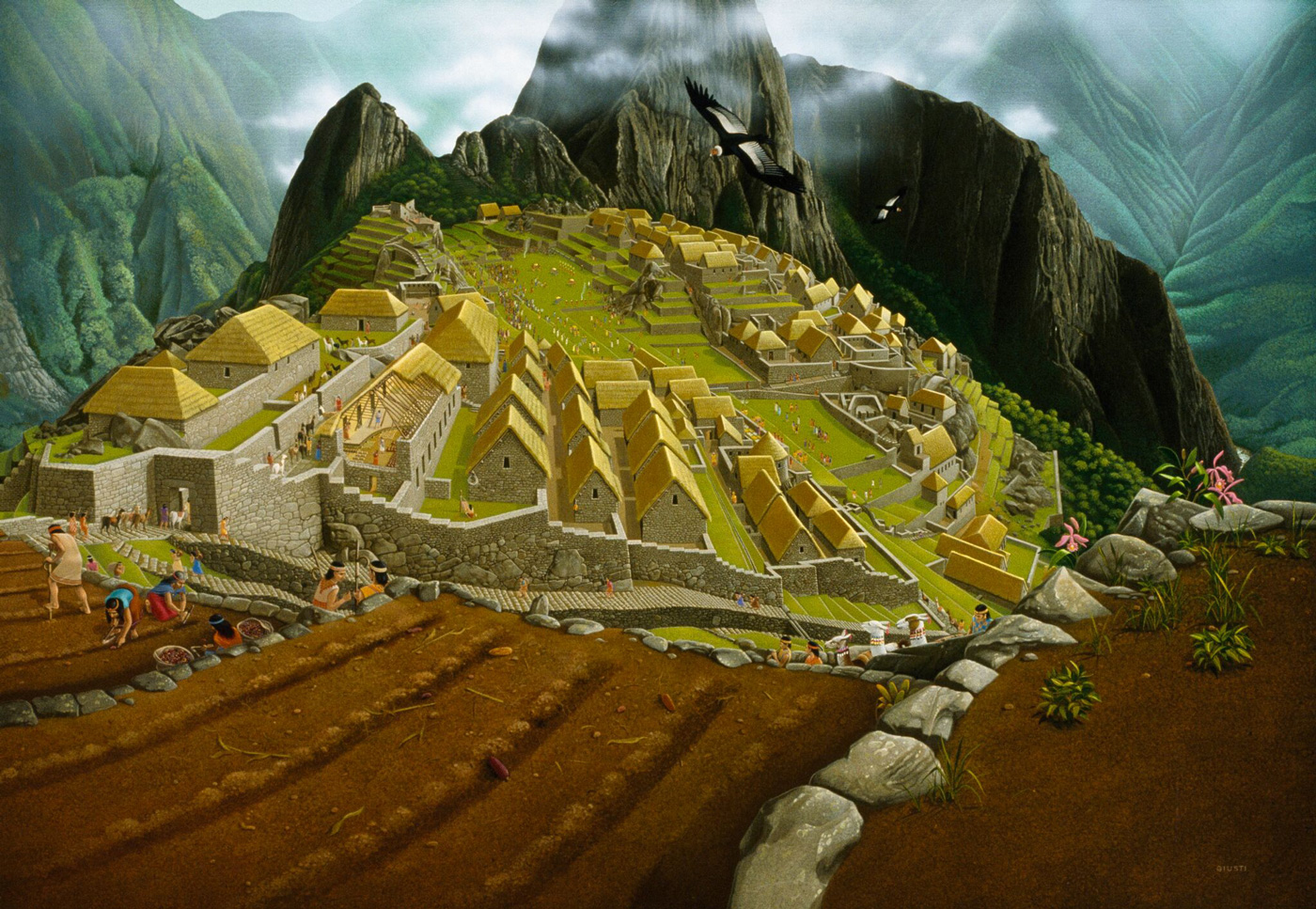 Inca leader Tupac Yupanqui built the stone walls that surround the city and buttress its temple in 1480.