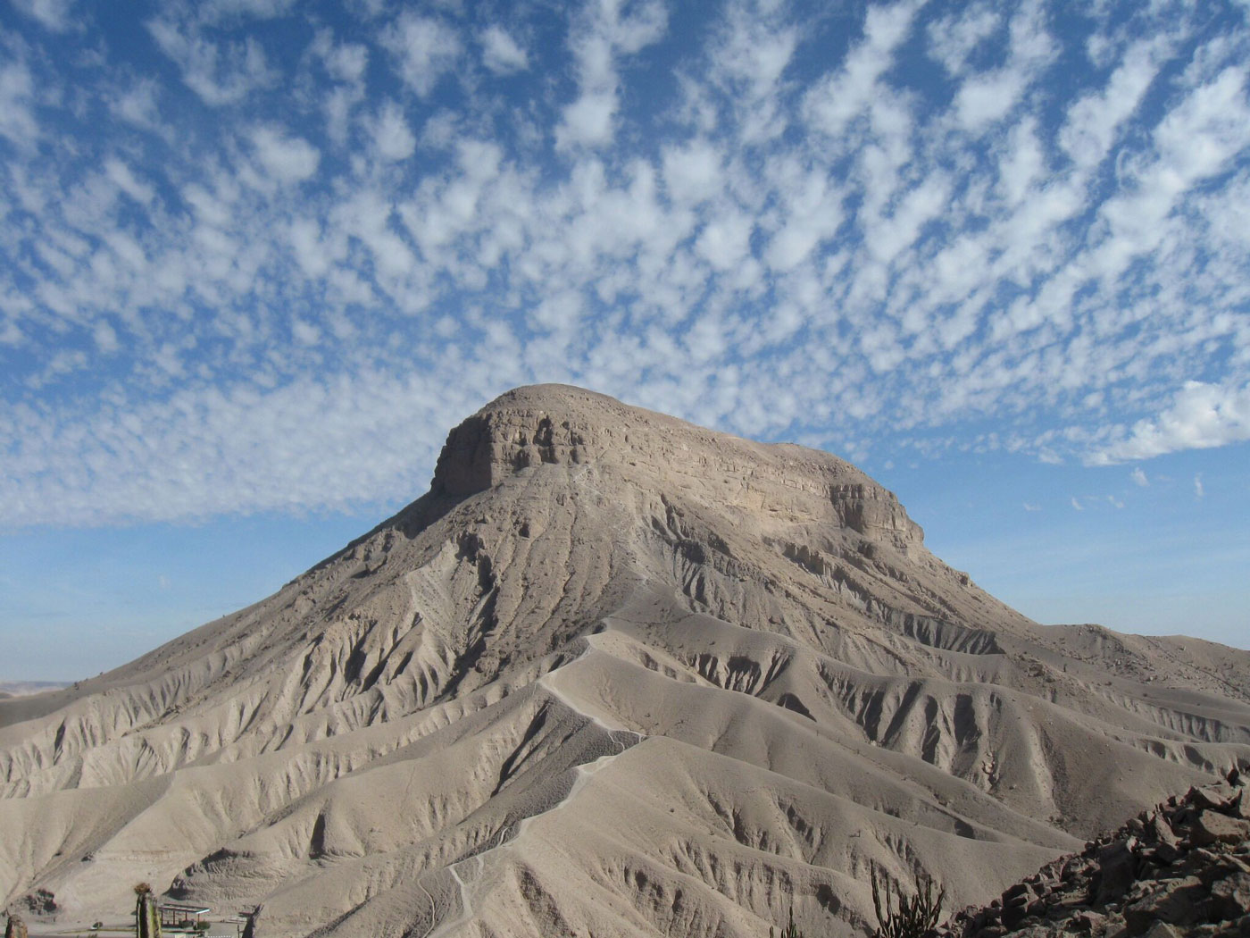 Pictured is the site of Cerro Baúl in the Moquegua Valley of Peru.